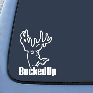 BuckedUp! Hunting Sticker Decal Notebook Car Laptop