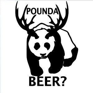Panda Bear Pounda Beer? Sticker Decal Notebook Car Laptop