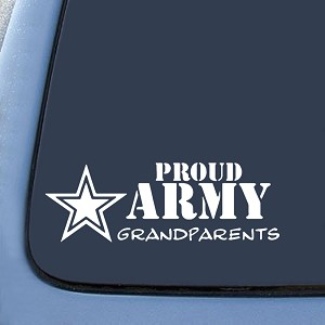 Proud Army Grandparents Sticker Decal Notebook Car Laptop