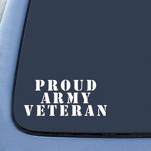 US Army Star Veteran Sticker Decal Notebook Car Laptop
