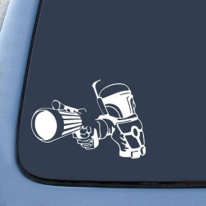 Boba Fett Bounty Hunter Design Sticker Decal Notebook Car Laptop