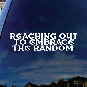 Reaching Out To Embrace The Random Lyrics Car Window Vinyl Decal Sticker