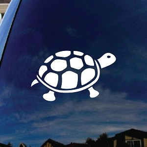 Tortoise Turtle Tropical Car Window Vinyl Sticker Decal