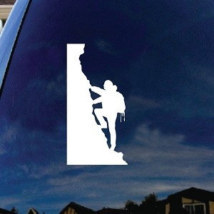 Rock Climber Silhouette Car Window Vinyl Decal Sticker