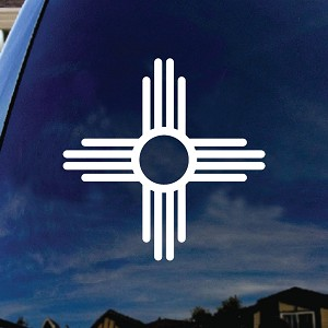 New Mexico Symbol Car Window Vinyl Decal Sticker