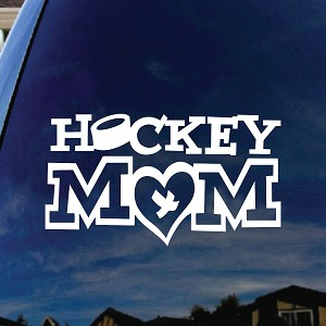 Hockey Mom Window Vinyl Decal Sticker