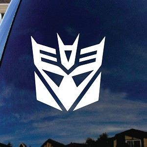 Decepticon Robot Helmet Car Window Vinyl Decal Sticker