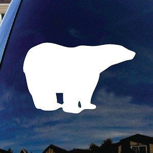 Polar Bear Car Window Vinyl Decal Sticker