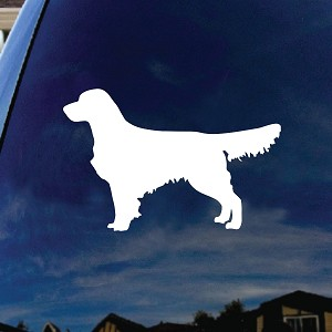 Golden Retriever Gentle Dog Car Window Vinyl Decal Sticker