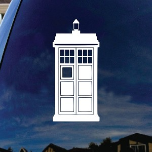 Doctor Police Box Car Window Vinyl Decal Sticker