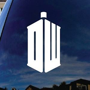 DW Police Box Car Window Vinyl Decal Sticker