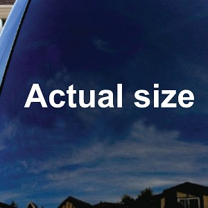 Actual Size Mini Car Truck Laptop Sticker Decal