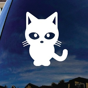 Cat Kitty Silhouette Car Truck Sticker Decal