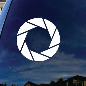 Aperture Car Window Vinyl Decal Sticker