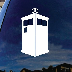Doctor DW Police Box Small Car Window Vinyl Decal Sticker