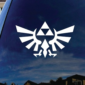 Zelda Inspired Wings Silhouette Car Truck Laptop Sticker Decal