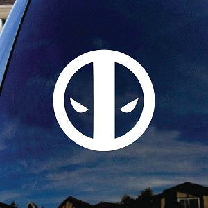 Dead Comic Pool Face Silhouette Car Sticker Decal