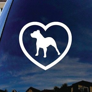 Pitbull Heart Love Dog Car Window Vinyl Decal Sticker