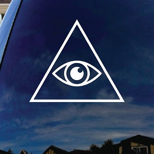Illuminati Eye Car Window Vinyl Decal Sticker