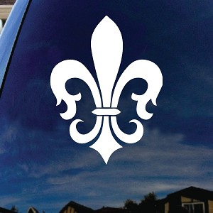 Fleur De Lis Car Window Vinyl Decal Sticker