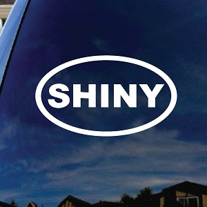 Shiny Oval Car Window Vinyl Decal Sticker