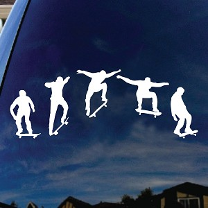 Snowboarders Line Car Window Vinyl Decal Sticker