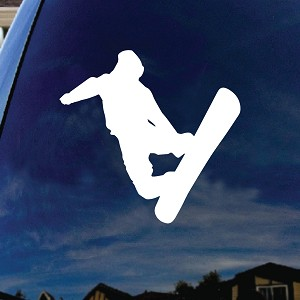 Jumping Snowboarder Car Window Vinyl Decal