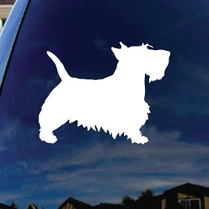"Scottie Dog Car Window Vinyl Decal Sticker 4"" Wide"