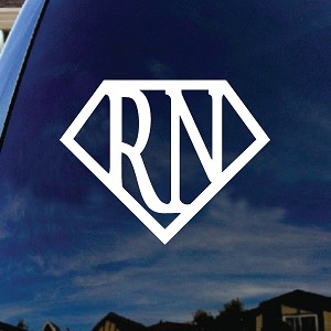 "Super RN Nurse Car Window Vinyl Decal Sticker 5"" Wide"