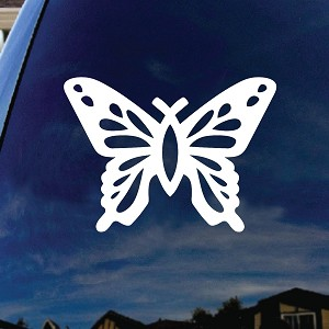 "Butterfly Christian Fish Car Window Vinyl Decal Sticker 5"" Wide"