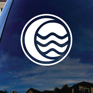 "Korra Water Car Window Vinyl Decal Sticker 5"" Wide"