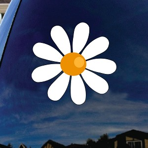"Daisy Flower Car Window Vinyl Decal Sticker 6"" Tall"