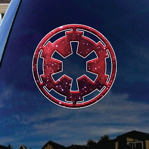 "Galactic Empire Symbol Car Window Vinyl Decal Sticker 5"" Wide"