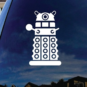 "Doctor DW Robot Who Character Car Window Vinyl Decal Sticker 6"" Tall"