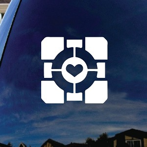 Companion Heart Cube Car Truck Laptop Sticker Decal 5""