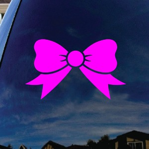"Bow Tie Pink Car Window Vinyl Decal Sticker 5"" Wide"