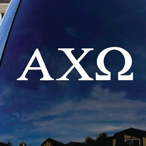 "Alpha Chi Omega Sorority Car Window Vinyl Decal Sticker 7"" Wide"