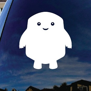 "Adipose DW Doctor Character Car Truck Laptop Sticker Decal 5"" Tall"